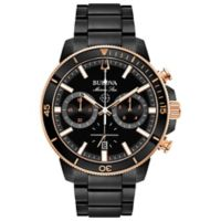 Bulova Men's 45mm Marine Star Chronograph Watch in Black Ion-Plated Stainless Steel
