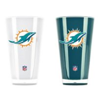 NFL Miami Dolphins 20 oz. Insulated Tumblers (Set of 2)