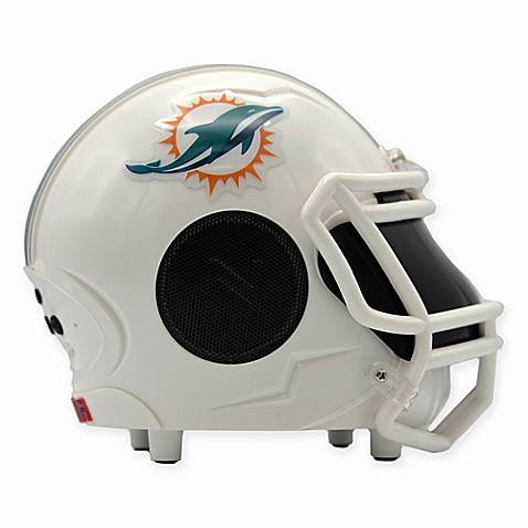Nfl Miami Dolphins Bluetooth Mini Helmet Speaker Bed