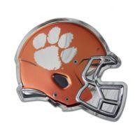 Clemson University Large Football Helmet Wall Art in Orange/White