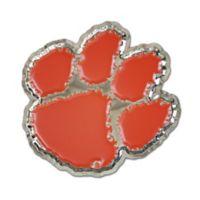 Clemson University Medium Tiger Paw Logo Wall Art in Orange/White