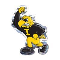 University of Iowa Fighting Herky Mascot Wall Art in Black/Yellow
