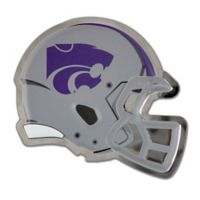 Kansas State University Small Football Helmet Wall Art in Grey/Purple