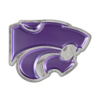 Kansas State University Medium Power Cat Logo Wall Art in Purple/Chrome
