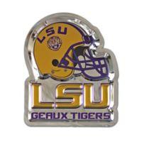"Louisiana State University ""Geaux Tigers"" Stainless Steel Wall Art in Purple/Yellow"