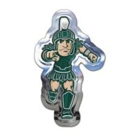 Michigan State University Small Sparty Mascot Wall Art in Green/White/Tan