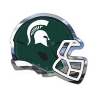 Michigan State University Small Football Helmet Wall Art in Green/White