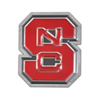 "North Carolina State University ""NCS"" Logo Wall Art in Red/Chrome"
