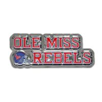 "University of Mississippi ""Ole Miss Rebels"" Logo Wall Art in Red/White/Blue"