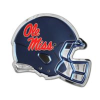 University of Mississippi Small Football Helmet Wall Art in Red/White/Blue