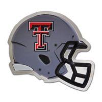Texas Tech University Small Football Helmet Wall Art in Grey/Red/Black