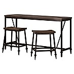 Hillsdale Trevino 3-Piece Counter Height Bar Table Set in Brown