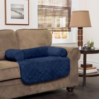 Innovative Textile Solutions Small Microfiber Waterproof Chair Protector with Bolster in Navy