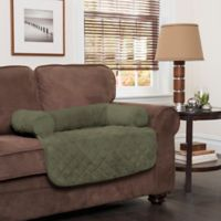 Innovative Textile Solutions Small Microfiber Waterproof Chair Protector with Bolster in Olive
