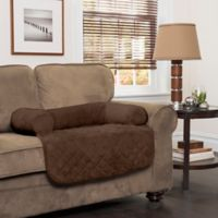 Innovative Textile Solutions Small Microfiber Waterproof Chair Protector with Bolster in Chocolate