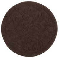 Mohawk Home Foliage 3-Foot Round Accent Rug in Chocolate