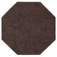 Mohawk Home Foliage 4-Foot Octagon Accent Rug in Chocolate