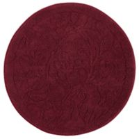 Mohawk Home Foliage 3-Foot Round Accent Rug in Cabernet