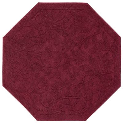 Mohawk Home Foliage 4 Foot Octagon Accent Rug In Cabernet