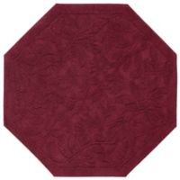 Mohawk Home Foliage 4-Foot Octagon Accent Rug in Cabernet