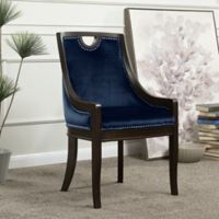 Chic Home Benjamin Velvet Side Dining Chair in Navy