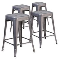 Flash Furniture 24-Inch Backless Stackable Bar Stools (Set of 4)