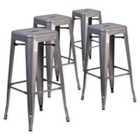 Flash Furniture 30-Inch Backless Stackable Bar Stools (Set of 4)