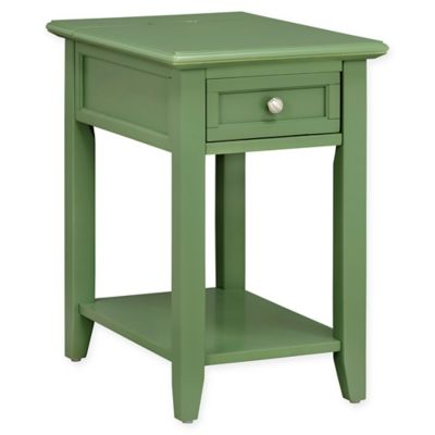 Attirant Verona Home Darbey Power Strip Accent Table In Green Meadow