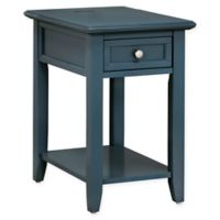 iNSPIRE Q® Darbey Power Strip Accent Table in Blue Steel