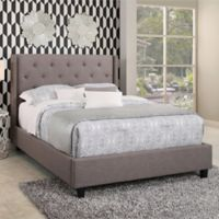 Abbyson Living Jaden King Upholstered Platform Bed in Grey
