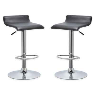 AirLift Bar Stools in Black (Set of 2)