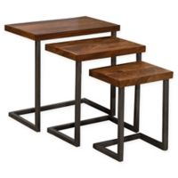 Hillsdale Emerson Nesting Tables in Brown (Set of 3)