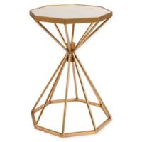 Abbyson Living® Greyson Mirror-Top Iron End Table in Gold
