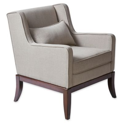 Madison Park Sherman Accent Chair In Taupe