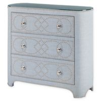 Madison Park Gamma 3-Drawer Upholstered Chest in Light Blue