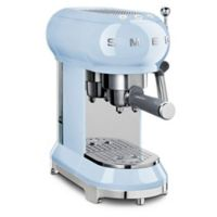 SMEG 50's Retro Style Espresso Maker in Pastel Blue