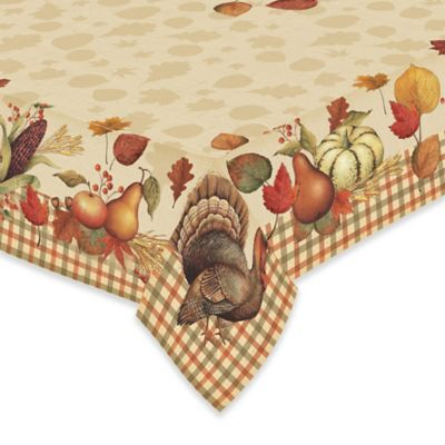 Laural Home® Bountiful Harvest 60 Inch X 84 Inch Oblong Tablecloth