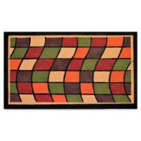 Nature by Geo Crafts Windows 30-Inch x 48-Inch Multicolor Door Mat