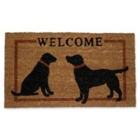 Nature by Geo Crafts Two Dog Welcome 30-Inch x 48-Inch Door Mat in Rusty Brown