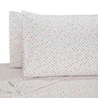 My World Llama Twin Sheet Set in White/Red