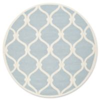 Safavieh Cambridge Emma 8-Foot Round Area Rug in Blue/Ivory