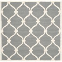 Safavieh Cambridge Emma 8-Foot Square Area Rug in Dark Grey