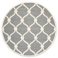 Safavieh Cambridge Emma 8-Foot Round Area Rug in Dark Grey