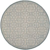Safavieh Cambridge Lindsey 8-Foot Round Area Rug in Dusty Blue/Cement