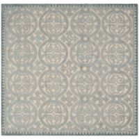 Safavieh Cambridge Lindsey 6-Foot Square Area Rug in Dusty Blue/Cement