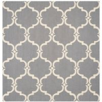 Safavieh Cambridge Diana 8-Foot Square Area Rug in Dark Grey/Ivory