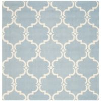 Safavieh Cambridge Diana 8-Foot Square Area Rug in Blue/Ivory