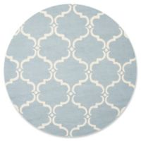 Safavieh Cambridge Diana 8-Foot Round Area Rug in Blue/Ivory