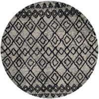Safavieh Casablanca Phoebe 6' Round Area Rug in Grey/Charcoal