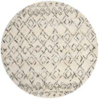 Safavieh Casablanca Phoebe 6' Round Area Rug in Ivory/Grey